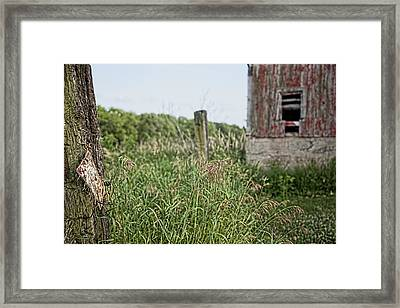 Framed Print featuring the photograph Old Barn 15 by John Crothers