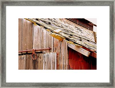 Old Barn Close Framed Print by Jeff Lowe