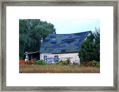 Framed Print featuring the photograph Old Barn by Davandra Cribbie