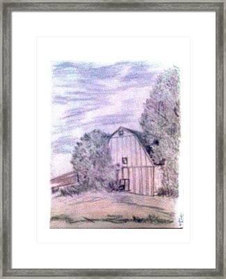 Old Barn Framed Print by De Beall