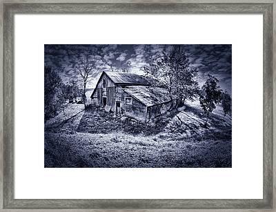 Old Barn Framed Print by Donald Schwartz