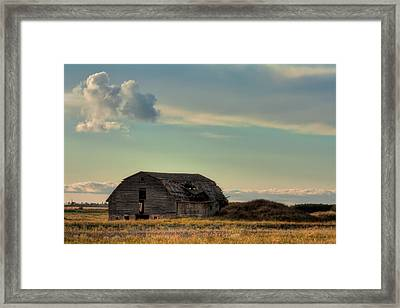 Old Barn In A Field Framed Print