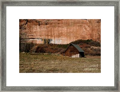 Framed Print featuring the photograph Old Barn In Angel Canyon #1  by Nola Lee Kelsey