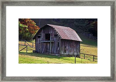 Old Barn In Etowah Framed Print