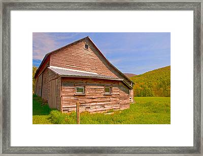 Framed Print featuring the photograph Old Barn In The Valley by Nancy De Flon