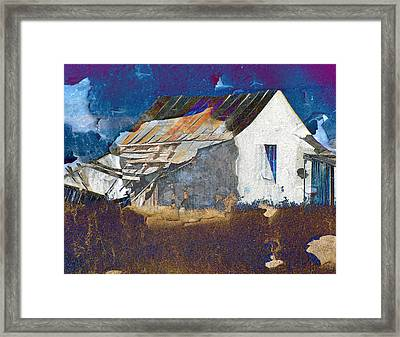 Framed Print featuring the digital art Old Village by Irina Hays