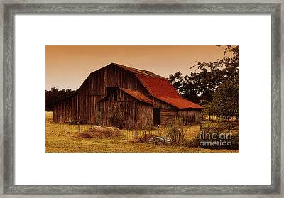 Framed Print featuring the photograph Old Barn by Lydia Holly