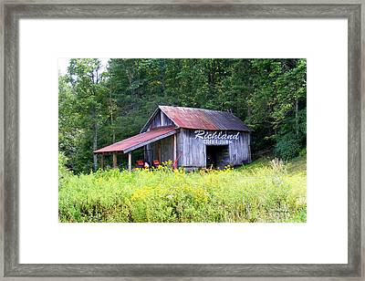 Old Barn Near Silversteen Road Framed Print