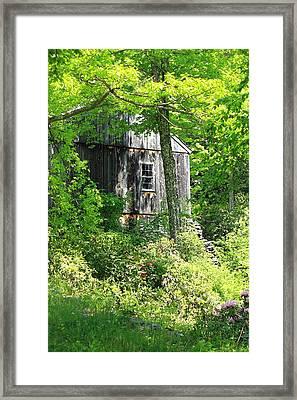 Old Barn Framed Print by Sara Walsh