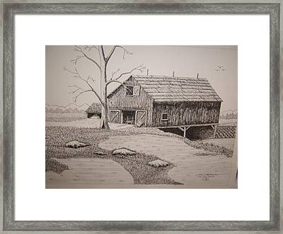 Old Barn Framed Print by William Deering
