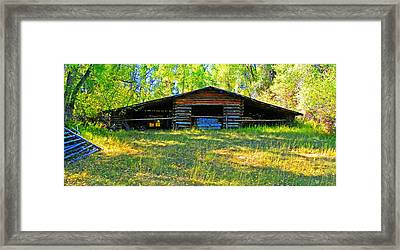 Old Barn With Wings Framed Print by Lenore Senior and Dawn Senior-Trask
