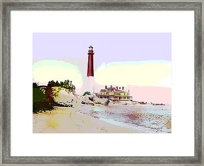 Old Barney Lighthouse Framed Print by Charles Shoup