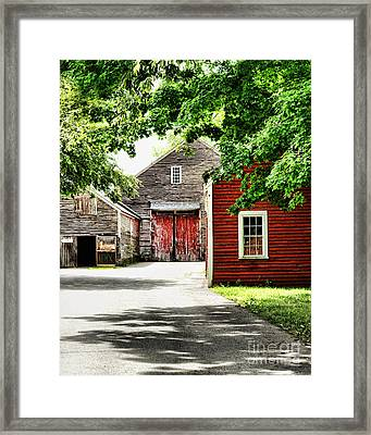Old Barns Framed Print by HD Connelly