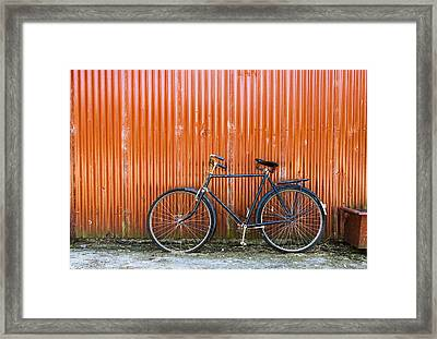 Old Bike Framed Print