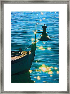 Old Boat Framed Print by Darko Vrbica