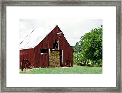 Old Bonham Barn II Framed Print by Lisa Moore