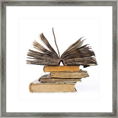 Old Books Framed Print by Bernard Jaubert
