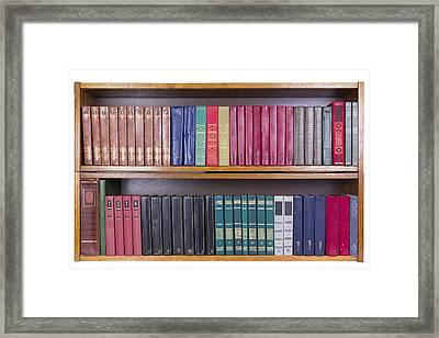 Old Books With Color Covers  On A Shelf  Framed Print by Aleksandr Volkov