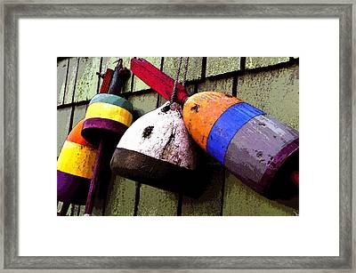 Old Bouys Framed Print by David Lee Thompson