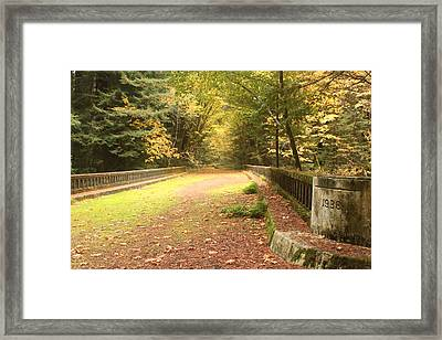 Old Bridge In The Fall Framed Print
