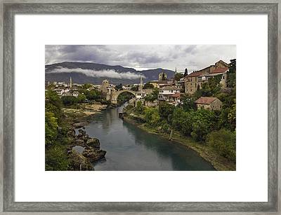 Old Bridge Of Mostar Framed Print by Ayhan Altun