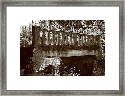 Framed Print featuring the photograph Old Bridge by Paula Brown