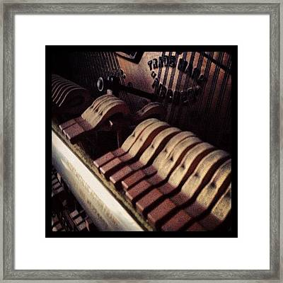 Old, Broken Down Upright Piano Framed Print