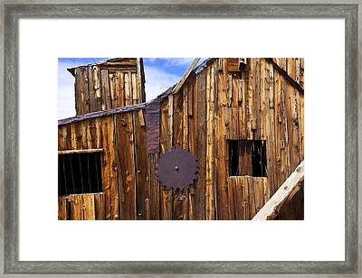 Old Building Bodie Ghost Town Framed Print by Garry Gay