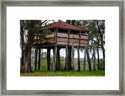 Old Building On Stilts 2 Framed Print