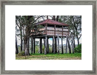 Old Building On Stilts 3 Framed Print