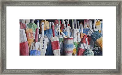 Old Buoy Hangout  Sold Printa Available Framed Print