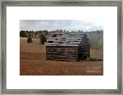 Old Cabin Framed Print by Ellen Heaverlo