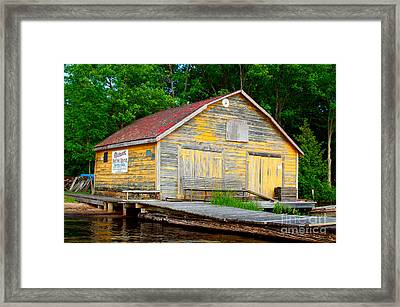 Framed Print featuring the photograph Old Cabin by Les Palenik