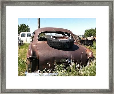 Old Car Framed Print by Bobbylee Farrier