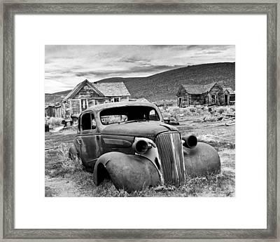 Old Car Bodie Framed Print