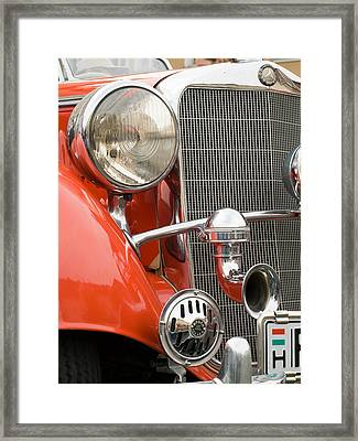 Old Car Detail Framed Print by Odon Czintos
