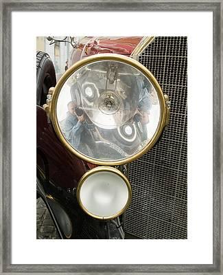 Old Car Lamp Framed Print by Odon Czintos