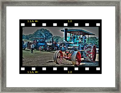Old Case Tractor Framed Print by Janice Adomeit