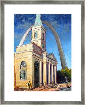 Old Cathedral Church In St.louis Framed Print