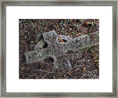 Framed Print featuring the photograph Old Celtic Cross  by Alexandra Jordankova
