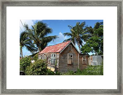Old Chattel House 2 Framed Print by Barbara Marcus