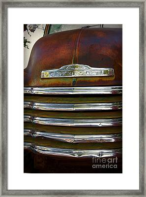 Old Chevrolet Front Grille Framed Print by ELITE IMAGE photography By Chad McDermott
