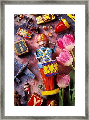 Old Childrens Toys Framed Print by Garry Gay