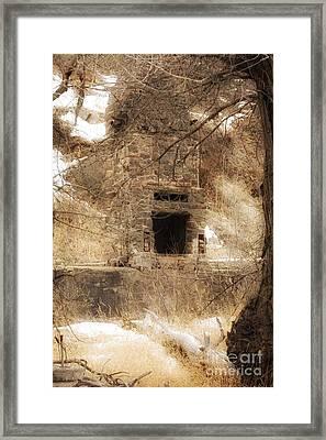 Old Chimney Framed Print by Angelique Olin