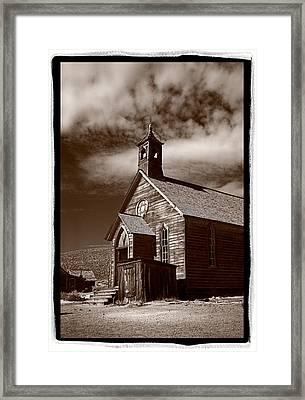 Old Church In Bodie California Framed Print by Steve Gadomski