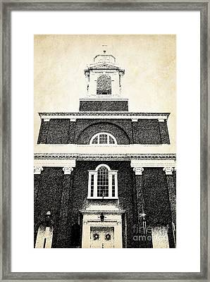 Old Church In Boston Framed Print by Elena Elisseeva