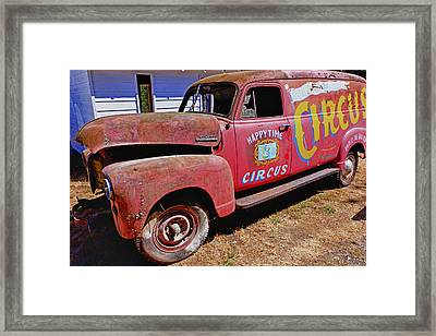 Old Circus Truck Framed Print by Garry Gay
