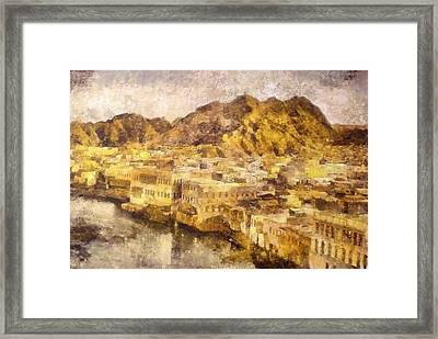 Old City Of Muscat Framed Print