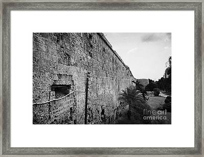 Old City Walls Famagusta Turkish Republic Of Northern Cyprus Trnc Framed Print by Joe Fox