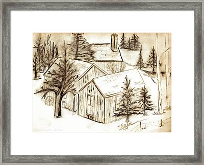 Framed Print featuring the drawing Old Colorado by Shannon Harrington